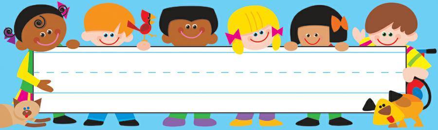 Clipart children name plate clipart library download Trend Enterprises TREND Kids Desk Toppers® Name Plates clipart library download