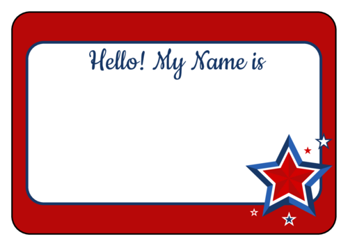 Name Tag Label Templates - Hello My Name is Templates svg royalty free stock