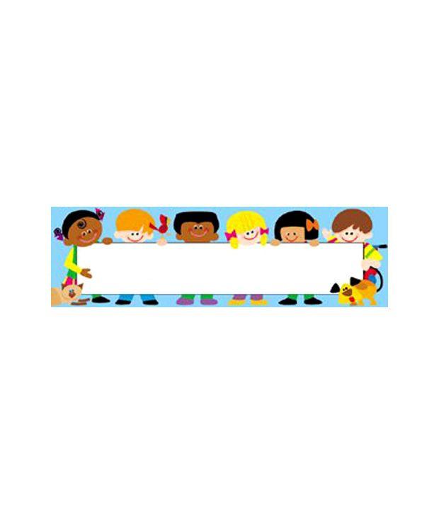 Clipart children name plate banner transparent download TREND Kids Toppers Desk Name Plates: Buy Online at Best Price in ... banner transparent download