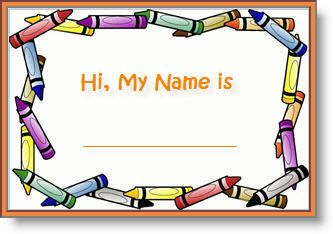Clipart children name tags black and white library editable printable abc border name tags | backtoschool name tags ... black and white library