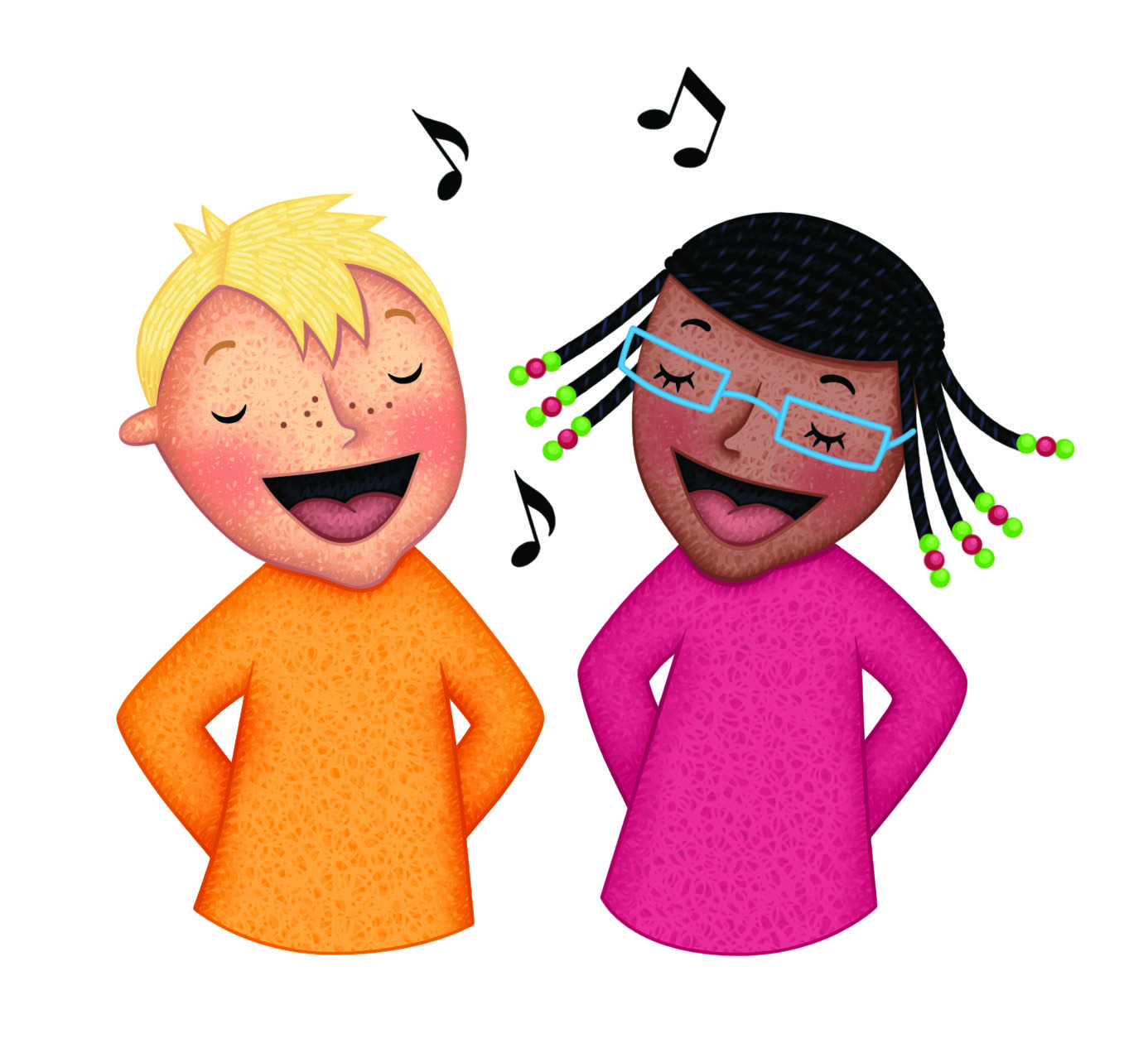 Clipart children sing together clipart stock Children Singing Clipart | Free download best Children Singing ... clipart stock
