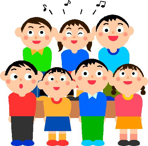 Clipart children sing together vector black and white download Let\'s Sing! | JSO Community Music School vector black and white download