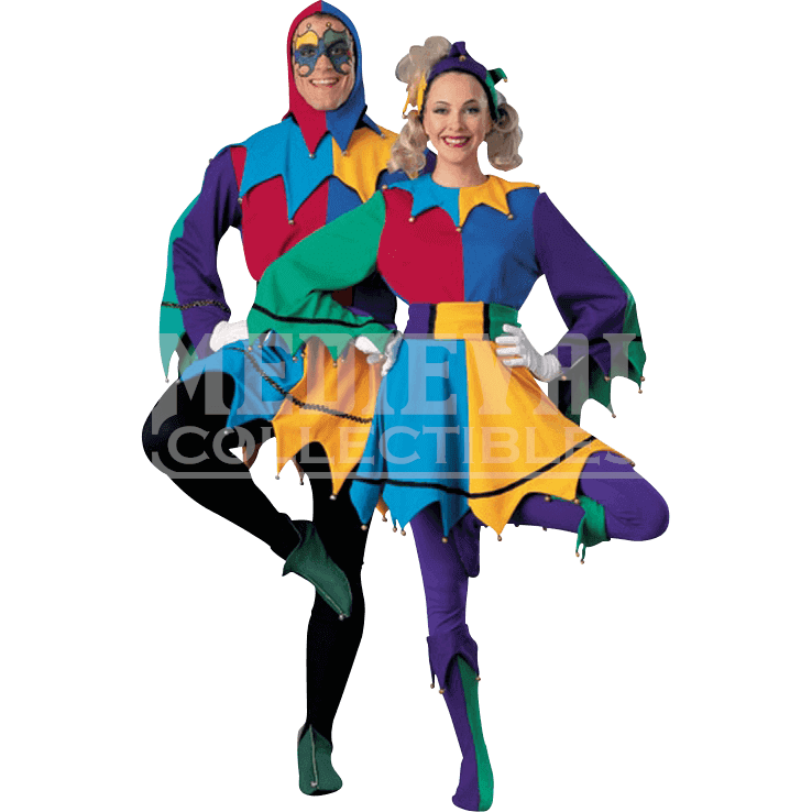 Clipart childrens halloween costumes image royalty free download Womens Jester Costume - RC-90220 by Medieval Collectibles image royalty free download