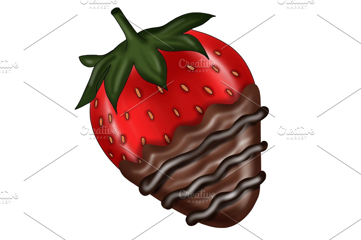 Clipart chocolate covered strawberries clip free download Chocolate Covered Strawberry Clipart clip free download