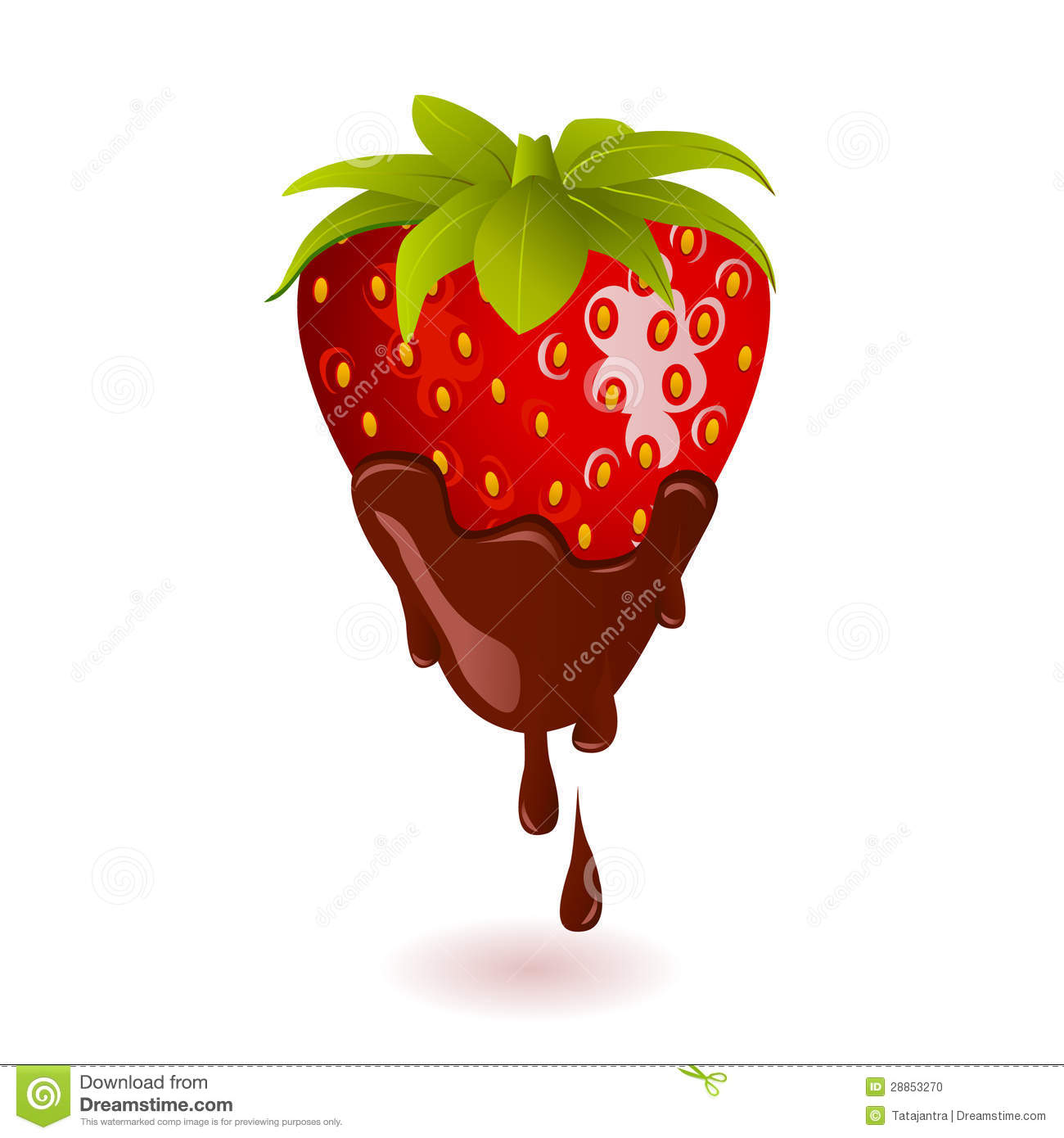 Clipart chocolate covered strawberries graphic royalty free Chocolate Dipped Strawberry Stock Vector - #447263 - Clipartimage.com graphic royalty free