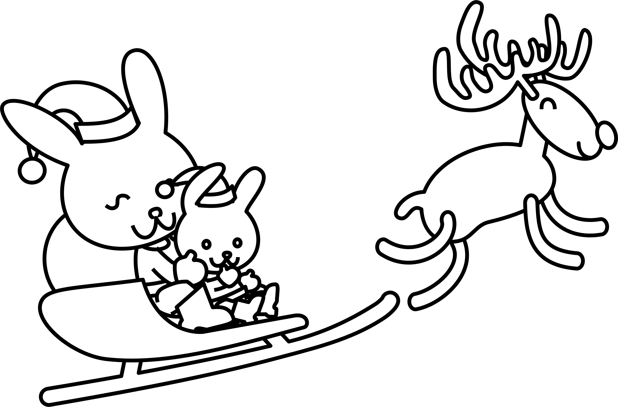 Clipart christmas black and white svg free download Rabbit Clipart christmas - Free Clipart on Dumielauxepices.net svg free download