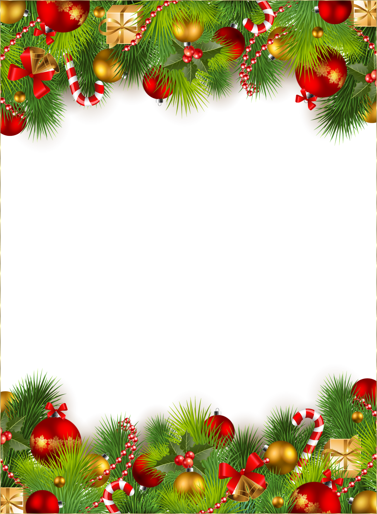 Clipart snowflake festive borders image freeuse download Zoom in (real dimensions: 1288 x 1758) | Rosario Hernandez ... image freeuse download