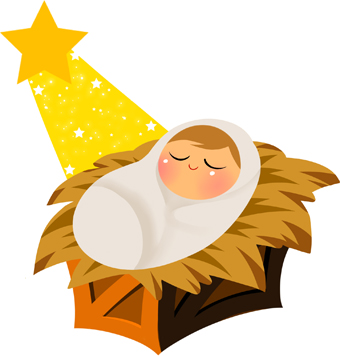 Clipart christmas borders mary baby jesus. Clipartfest with yellow star
