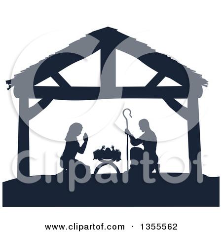 Clipart christmas borders mary baby jesus. Of a nativity scene