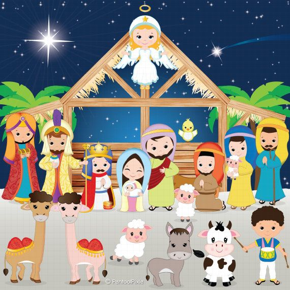 Clipart christmas borders mary baby jesus.  best ideas about