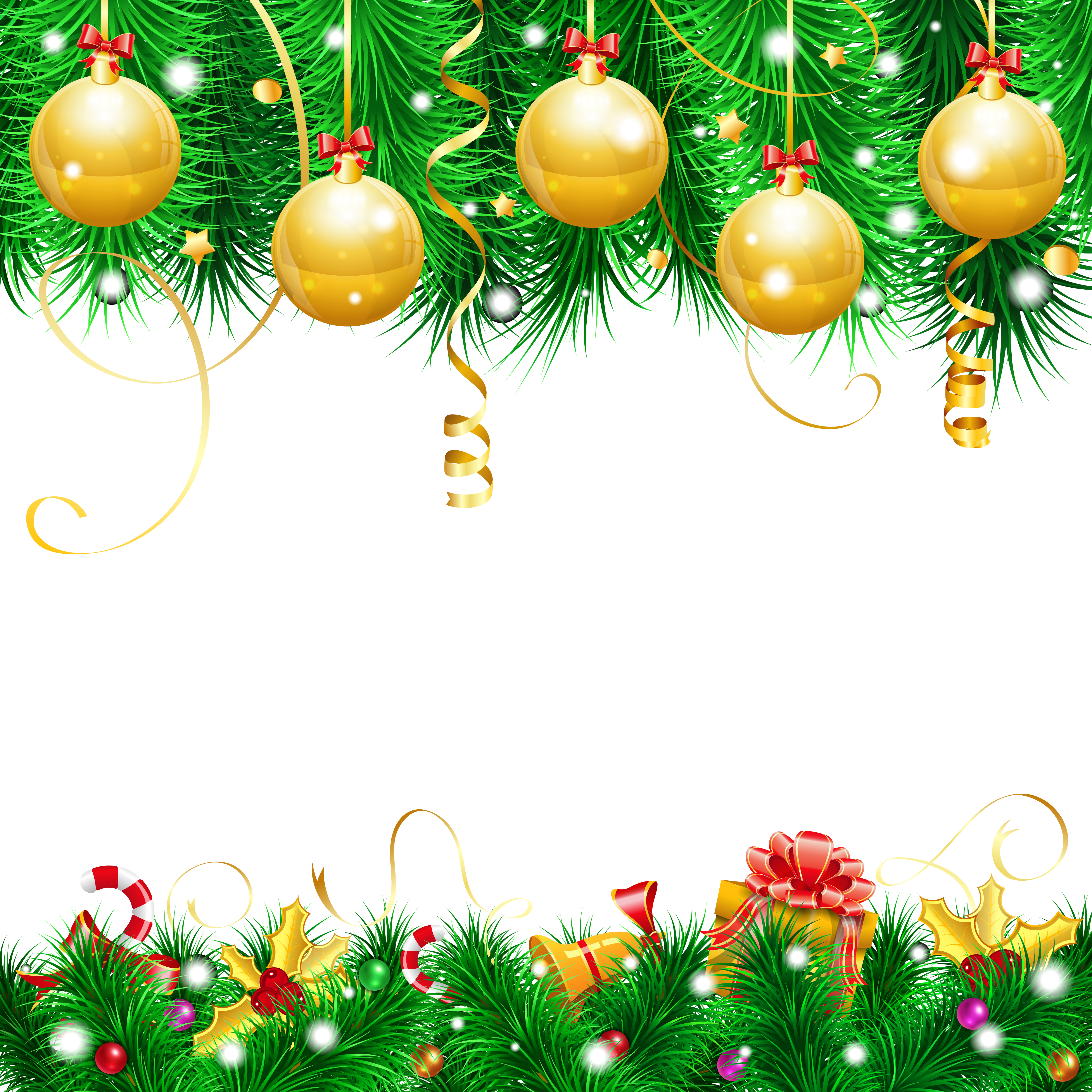 Clipart christmas decor image free library Transparent Christmas Decor PNG Clipart   Gallery Yopriceville ... image free library