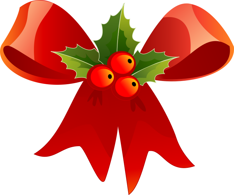 Clipart christmas flower and ribbon png graphic royalty free download Clipart christmas flower and ribbon png - ClipartFest graphic royalty free download