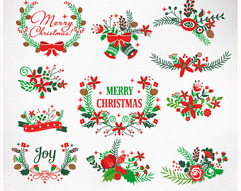 Clipart christmas flower and ribbon png clip transparent Clipart christmas flower and ribbon png - ClipartFox clip transparent