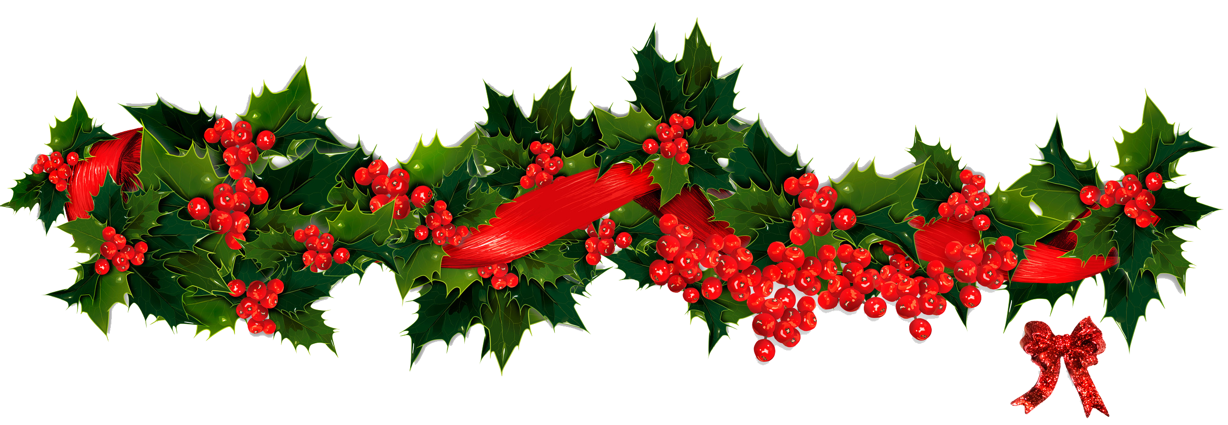 Clipart christmas flower and ribbon png jpg transparent library Garland PNG Transparent Images | PNG All jpg transparent library