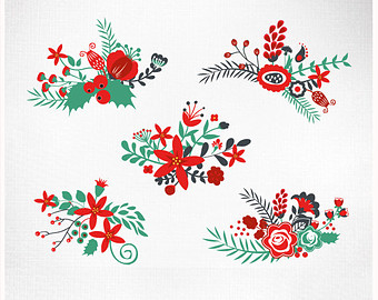 Clipart christmas flower and ribbon png clipart stock Clipart christmas flower and ribbon png - ClipartFest clipart stock