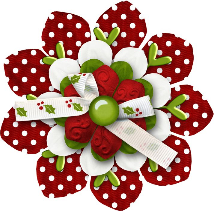 Clipart christmas flower and ribbon png transparent download 17 Best images about Ribbon & Bow on Pinterest | Clip art ... transparent download