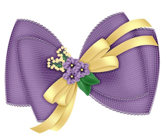 Clipart christmas flower and ribbon png svg free library Beautiful Transparent Purple Bow with Flowers Clipart | Ribbons ... svg free library