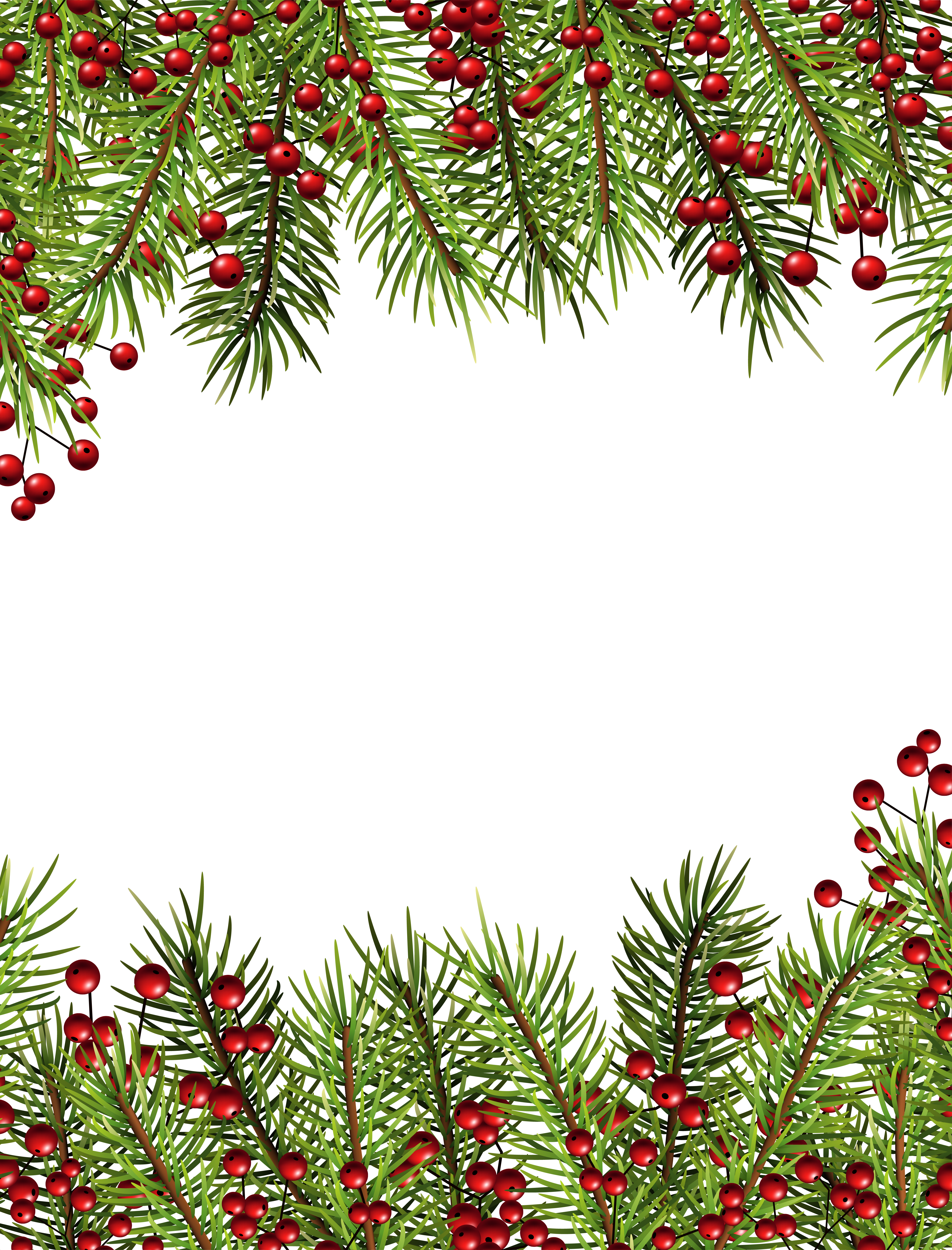 Free clipart christmas holly borders clipart freeuse Christmas Holly Transparent Border PNG Frame | Gallery Yopriceville ... clipart freeuse