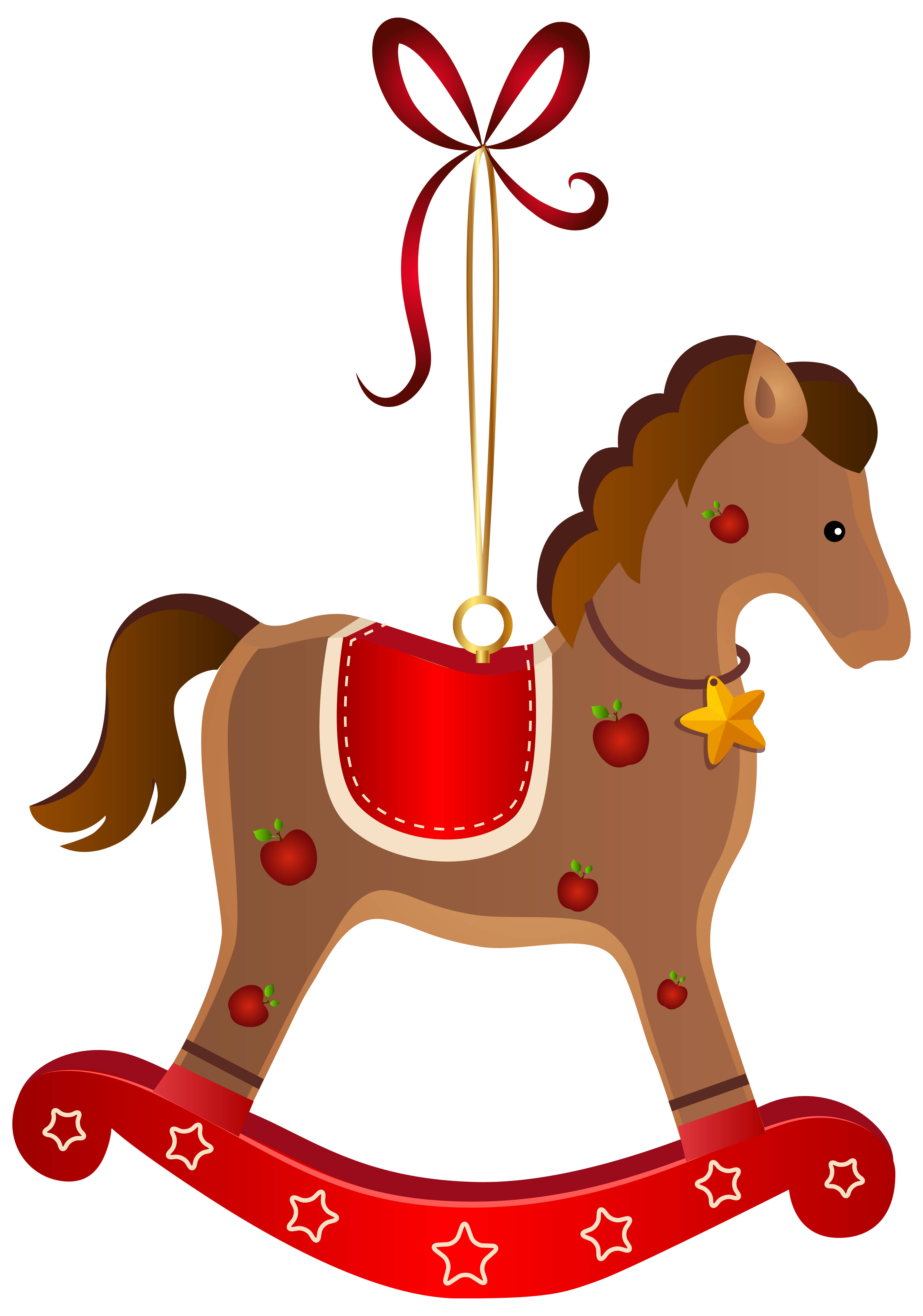 Clipart christmas horse image freeuse download Rocking Horse Christmas Ornament Transparent PNG Clip Art Image ... image freeuse download