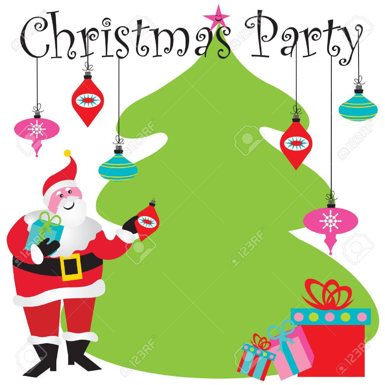 Clipart christmas invitation png black and white library Free christmas party invitation clipart 5 » Clipart Portal png black and white library