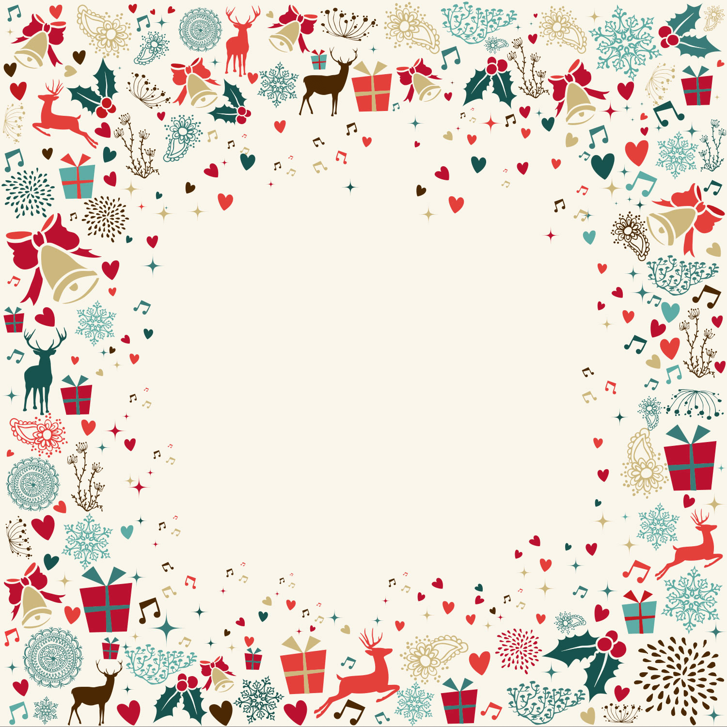 Clipart christmas invitation vector freeuse library Signs of the Season - Free Printable Christmas Invitation Template ... vector freeuse library