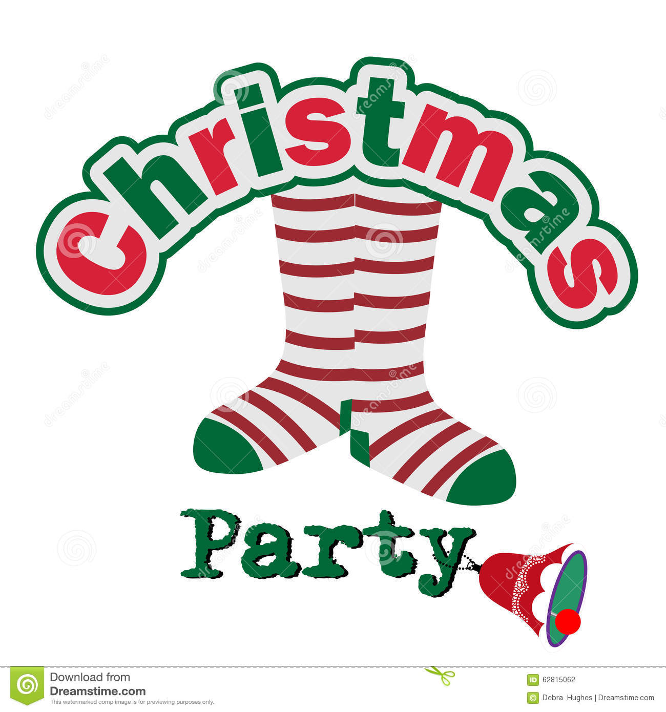 Clipart christmas invitation png download Silly Christmas Party Invitation Stock Vector Image - Free Clipart png download
