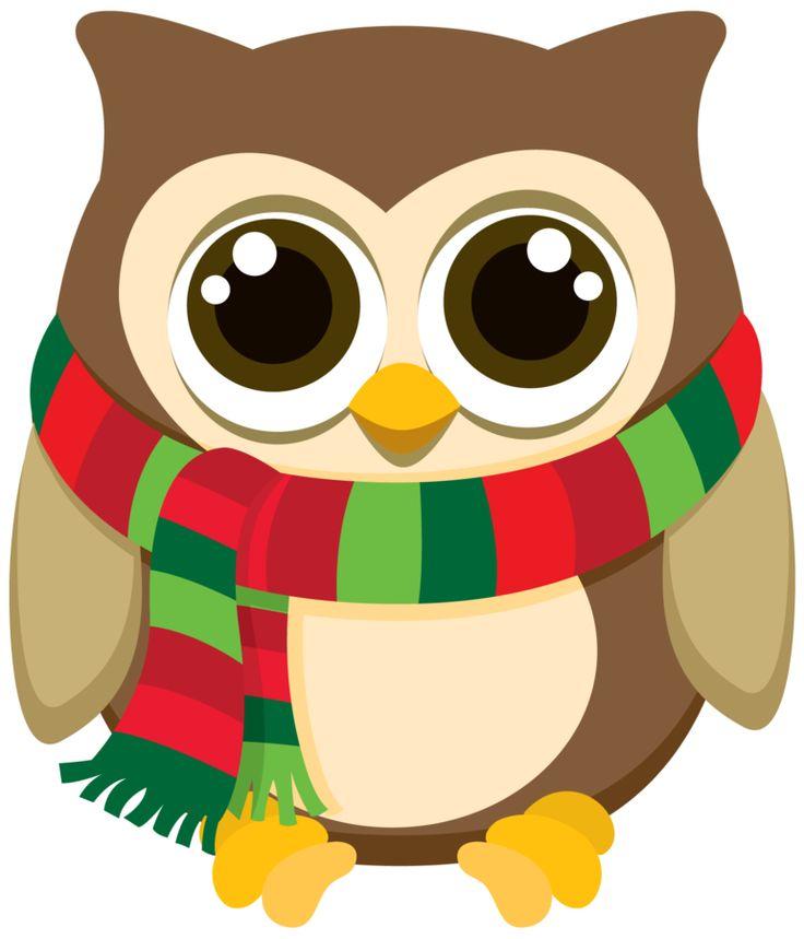 Clipart christmas owl