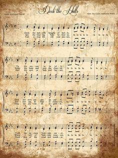 Clipart christmas sheet music
