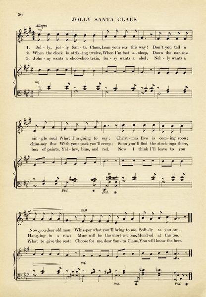 Clipart christmas sheet music graphic royalty free stock 15 Must-see Christmas Sheet Music Pins   Vintage sheet music ... graphic royalty free stock