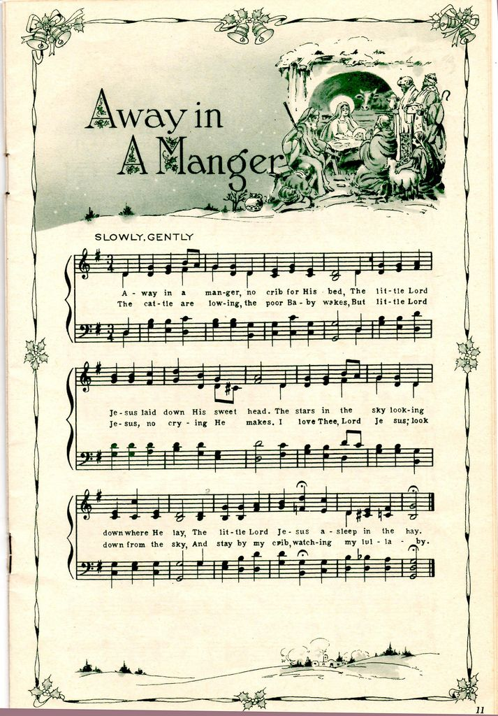 Clipart christmas sheet music clip black and white library 15 Must-see Christmas Sheet Music Pins   Vintage sheet music ... clip black and white library