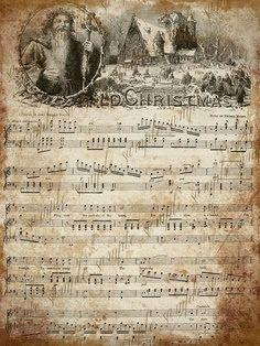 Clipart christmas sheet music image transparent stock Vintage Christmas Sheet Music Printable,frosty the snowman ... image transparent stock