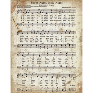 Clipart christmas sheet music banner transparent library Silent Night Christmas Sheet Music Christian Hymn Hymnal Dig ... banner transparent library