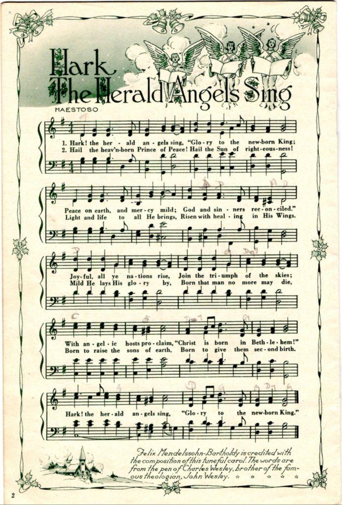Clipart christmas sheet music clip art library stock 15 Must-see Christmas Sheet Music Pins   Vintage sheet music ... clip art library stock