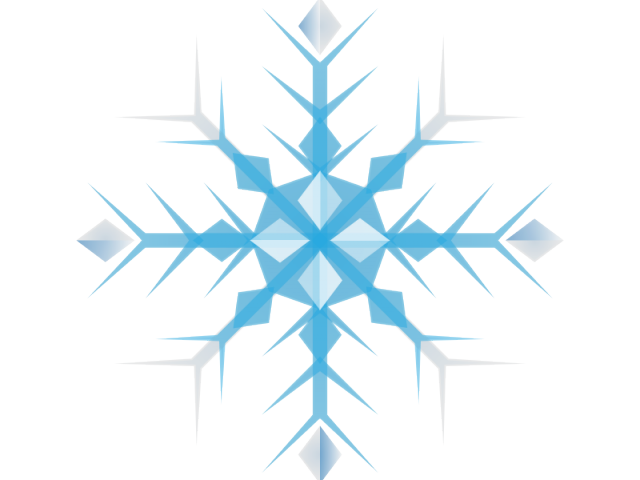 Clipart christmas snowflake clip black and white Christmas Snowflake Clipart 5 - 640 X 640   carwad.net clip black and white