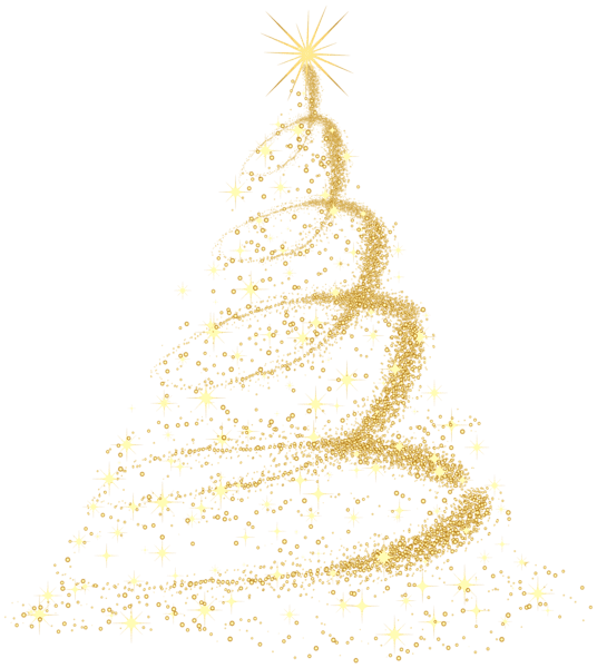 Snowflake christmas tree clipart graphic transparent stock Gold Christmas Tree PNG Clip Art graphic transparent stock