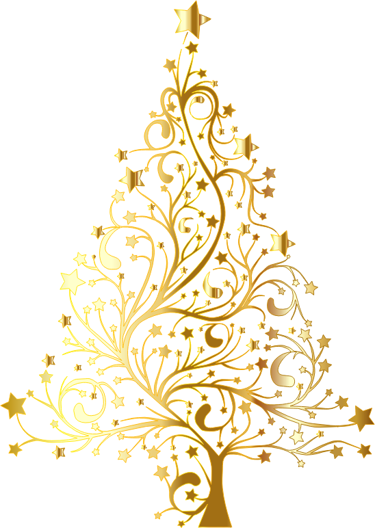 Funky christmas tree clipart vector freeuse Clipart - Starry Christmas Tree Gold No Background vector freeuse