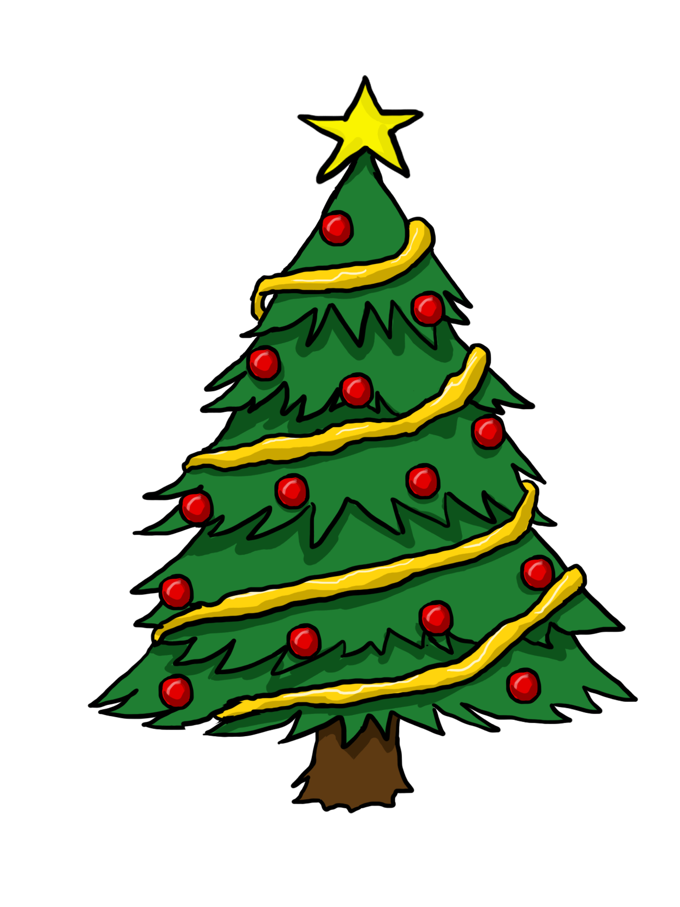 Clipart christmas tree images banner black and white stock Free Christmas Tree Cliparts, Download Free Clip Art, Free Clip Art ... banner black and white stock
