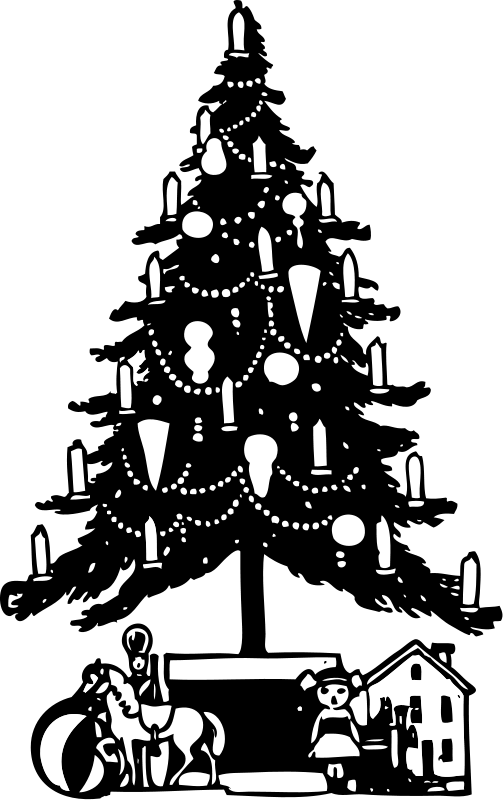 Clipart christmas tree with presents banner library library Christmas Tree | Free Stock Photo | Illustration of a Christmas tree ... banner library library