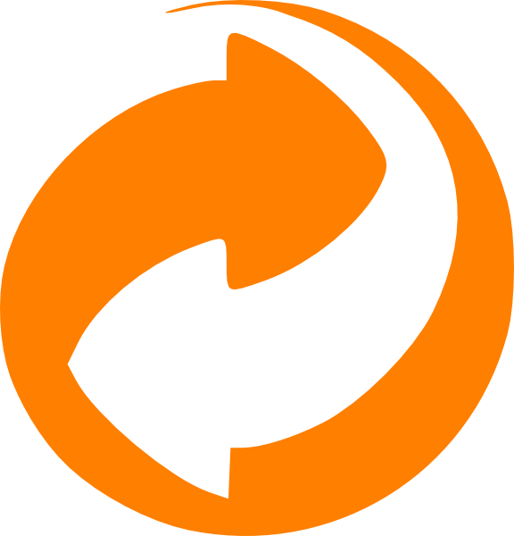 Orange circular arrows clip. Clipart circle arrow