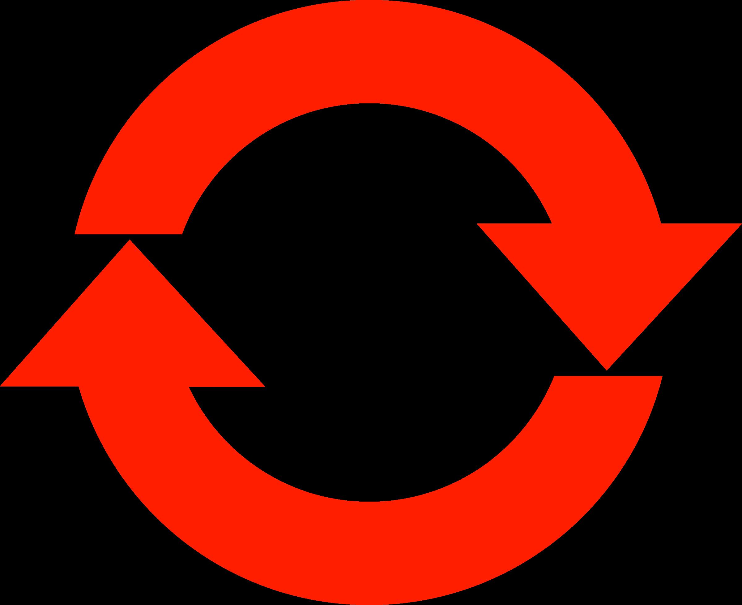 Clipart circle arrow. Refresh icon simple big