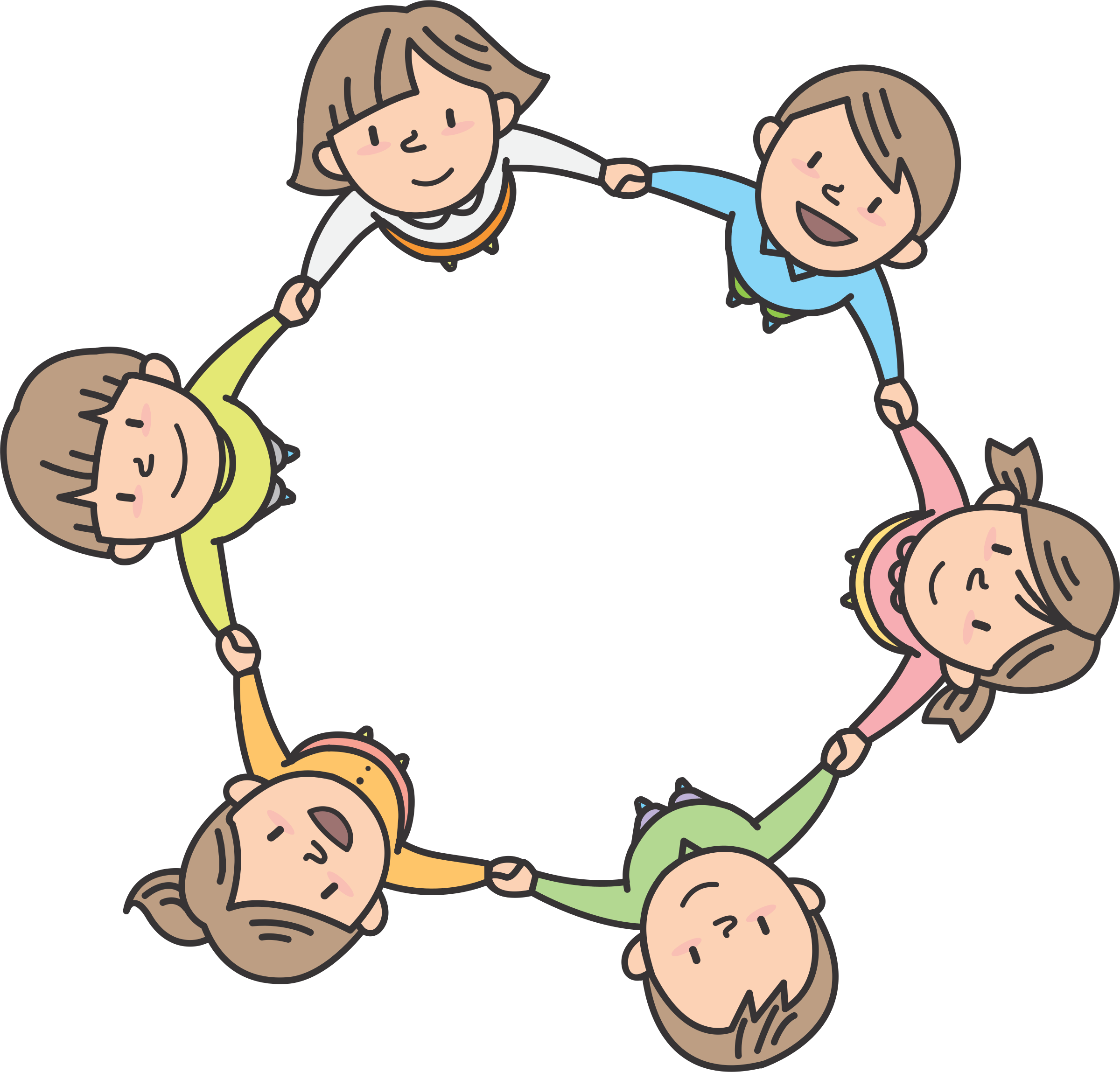 Clipart circle of students clip art freeuse library Children In Circle - Children Circle Clipart - Full Size Clipart ... clip art freeuse library