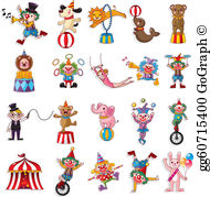 Sircus clipart black and white Circus Clip Art - Royalty Free - GoGraph black and white