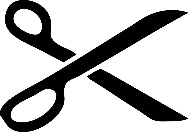 Clipart cissor jpg black and white Free Clipart: Scissor Stencil | kevin.m.smyth jpg black and white