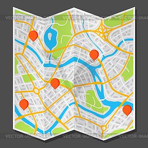 Stadtplan clipart