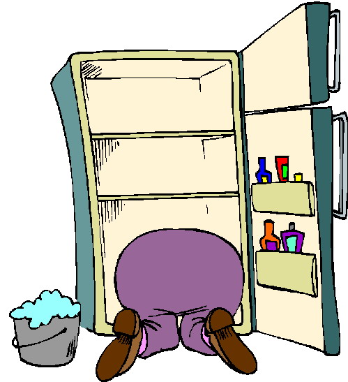 Clipart clean out refrigerator picture transparent stock Refrigerator Clean Up Clipart picture transparent stock