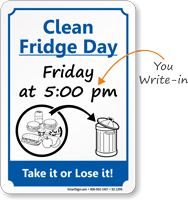Clipart clean out refrigerator png black and white library Keep Kitchen Clean Signs | Kitchen Courtesy Signs png black and white library