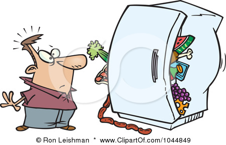 Clipart clean out refrigerator. Cleaning smelly kid cartoon