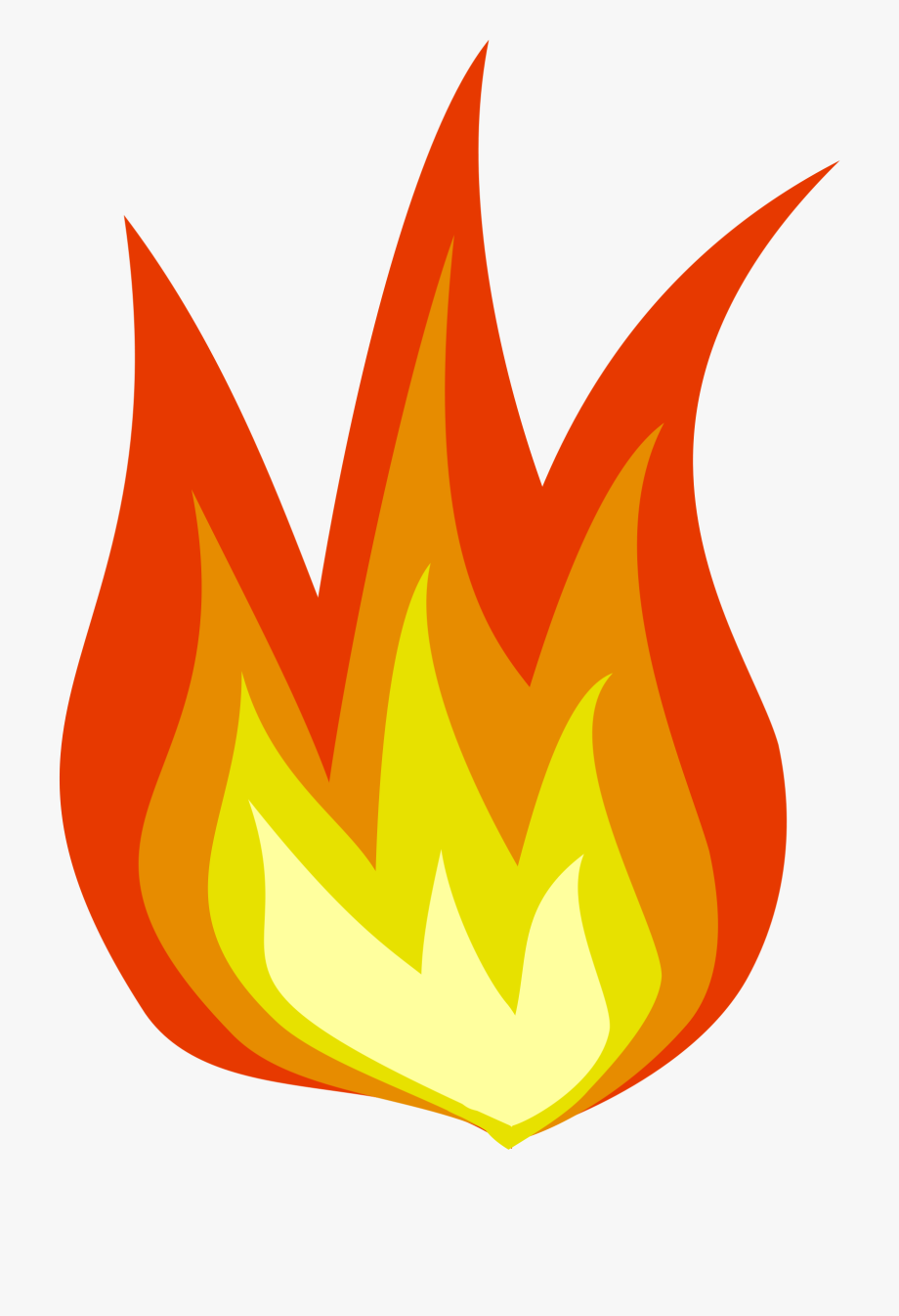 On fire clipart