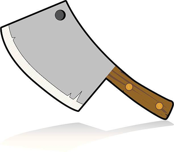Clipart cleaver banner black and white stock A cartoon meat cleaver. » Clipart Portal banner black and white stock