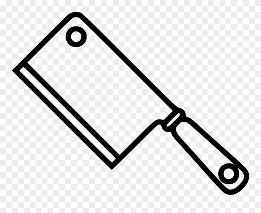 Clipart cleaver clip black and white download Cleaver Comments - Line Art Clipart (#3331500) - PinClipart clip black and white download
